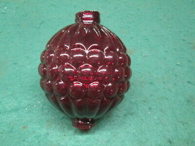 Red Grapes Glass Lightning Rod Ball Roof Home Cabin Decor weathervane