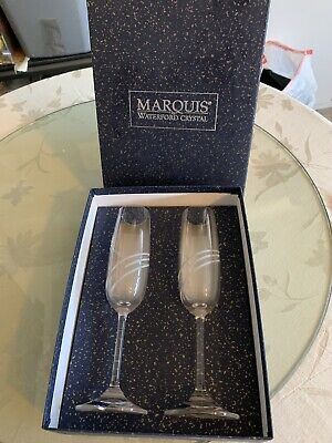 Marquis Waterford Crystal Millennium Celebration Collection Toasting Flutes
