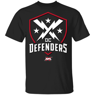 NEW DC Defenders XFL² 2020 Mens Short Sleeve T-Shirt Black Cotton Tee