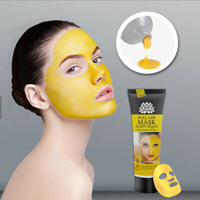 24K Gold Collagen Facial Face Mask Moisture Anti Aging Remove Wrinkle Care CW US