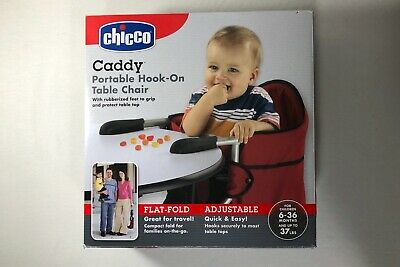 USED TWICE Chicco Caddy HIGH CHAIR Hook-On Baby Toddler Travel Red Portable