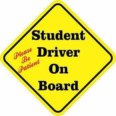 5in x 5in Please Be Patient Student Driver On Board Sticker