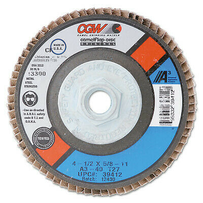 2X1X1/4 ALUM OXIDE 80 GRIT FLAP WHEEL 39933  - 1 Each