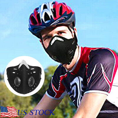 Anti Dust Mask Motorcycle Cycling Outdoor Skiing Face Mask with Filter Washable