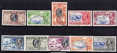 CAYMAN ISLANDS George V 1935 SG96/105 set to 2/- fine used. Catalogue £60