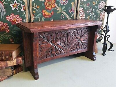 Small Arts And Crafts Table Top Oak Coffer / Box