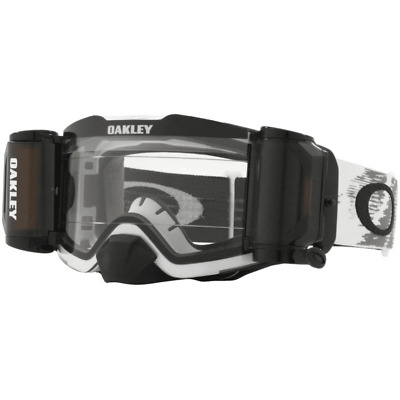 Oakley Adults Front Line Motocross Enduro Roll Off Goggles - Matte White Speed