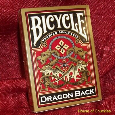 Mene-Tekel Deck, Bicycle Dragon Gold - Magic Card Trick - Made USA - Menetekel