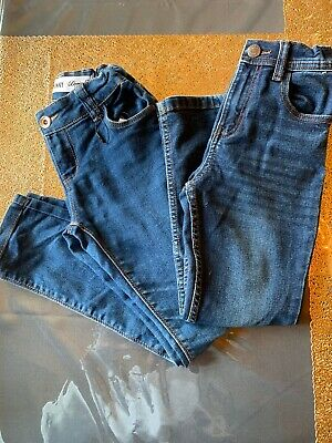 2x Boys Denim Co Jeans Skinny Age 7-8 Years Blue & Grey Excellent condition