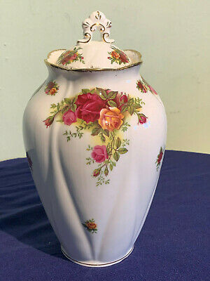 Royal Albert Old Country Roses lidded jar/ storage/ vase