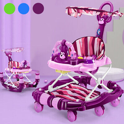 Baby Walker First Step Push Along Bouncer Activity Ride On Car Rocking Horse Toy