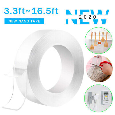Reusable Magic Nano Tape Double Sided Adhesive Clear Washable Traceless Reusable