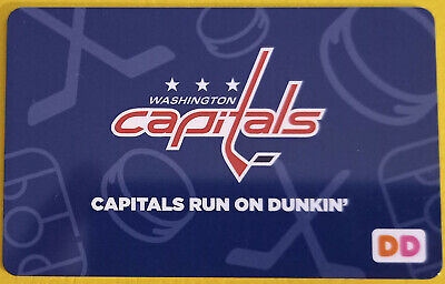 2017 Washington Capitals Dunkin Donuts gift card