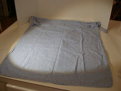 Pottery Barn Kids Large Blue Gingham Drawstring Style Toy Laundry Bag