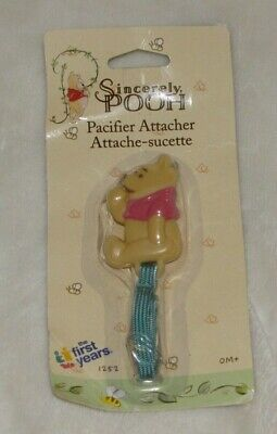 Sincerely Classic Winnie the Pooh First Years Pacifier Clip Infant Baby