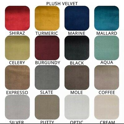 Plush Velvet Plain - Upholstery & Craft and Curtain Fabric (16 colours)
