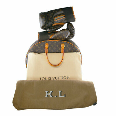 Louis Vuitton Iconoclast Karl Lagerfeld Monogram Boxing Gloves, Case and Mat