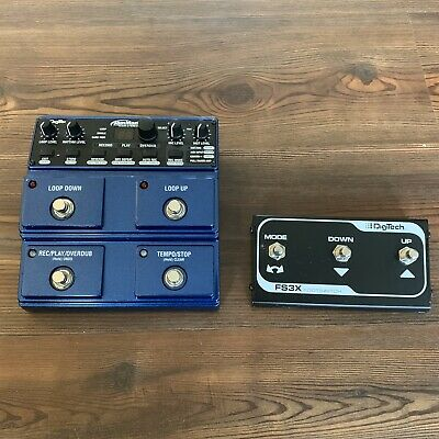 Digitech JamMan Stereo looper pedal +FS3X foot-switch