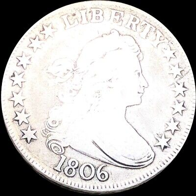 1806 Draped Bust Half Dollar NICELY CIRCULATED Philadelphia Key Date 50c Silver!