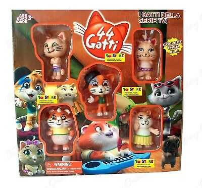 SET 5 PERSONAGGI 44 GATTI Lampo Milady Pilou Polpetta & FRIEND ACTION FIGURE ITA