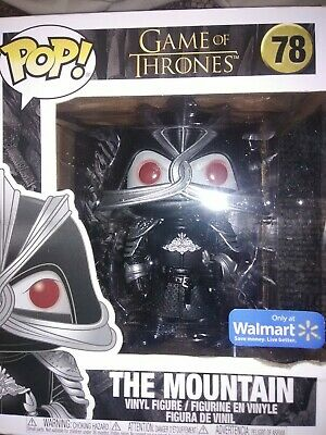 Funko Pop The Mountain 78 Game Of Thrones 6 Inch Walmart Exclusive fast shipping