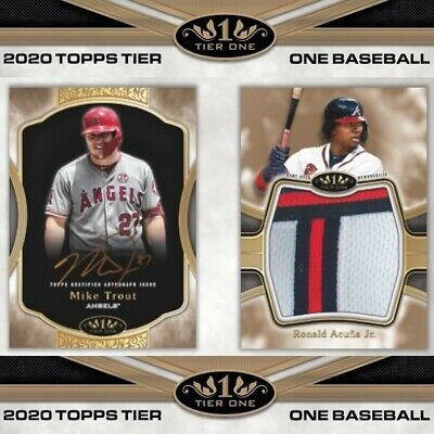 2020 Topps Tier One Factory Sealed Hobby Box Pre Sell 5/29