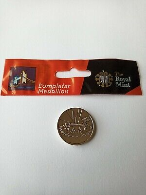 London 2012 Olympic Completer Medallion 50p Coin Collection