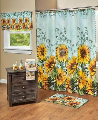 Sunflower Vibrant Colors Spring Bathroom Collection Separates or 19pc Set