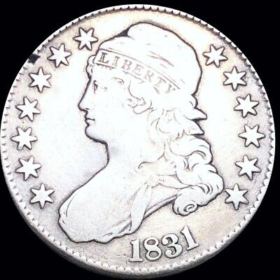 1831 Capped Bust Half Dollar LIGHTLY CIRCULATED Philadelphia High End 50c Silver