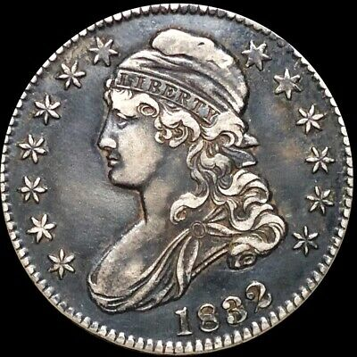 1832 Capped Bust Half Dollar NEARLY UNCIRCULATED Philadelphia 50c Silver Coin NR