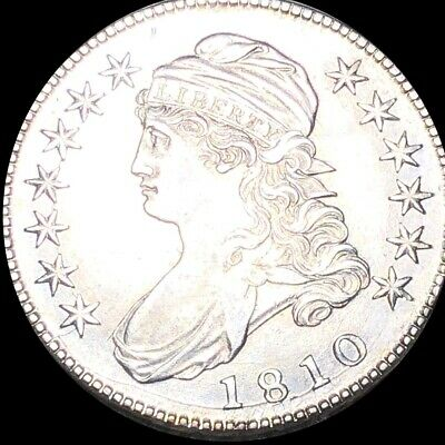1810 Capped Bust Half Dollar CLOSELY UNCIRCULATED Philadelphia 50c Silver Coin!