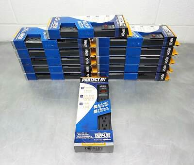 Lot of 12 New Tripp Lite 6 Outlet Surge Protector Power Strip, 6ft Cord