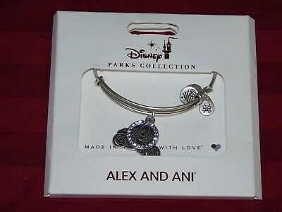 Alex & Ani Disney Park Bracelet✿Carriage Cinderella Jeweled Wedding Coach Silver