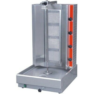 4-Burner LPG Gas Doner Kebab Machine for Commercial Catering Use