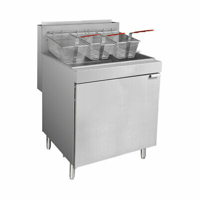 Superfast LPG Gas Tube Fryer 5-Burner for Commercial Catering Use