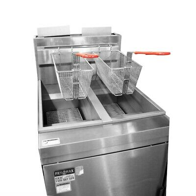 Superfast LPG Gas Tube Twin Vat Fryer for Commercial Catering Use