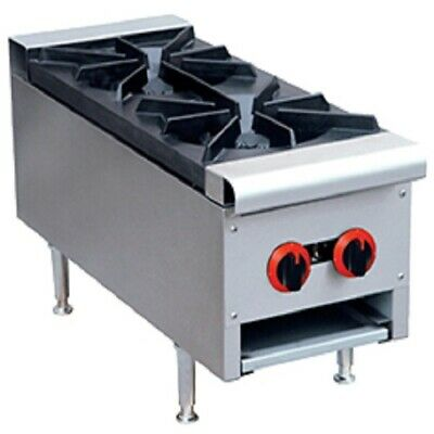 Gas Cook Top 2-Burner for Commercial Catering and Restaurant Use
