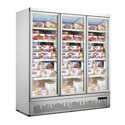 Triple Door Supermarket Freezer for Commercial Catering and Restaurant Use