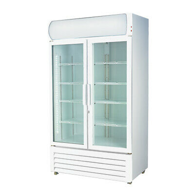 Double Glass Door Colourbond Upright Drink Fridge for Commercial Catering Use