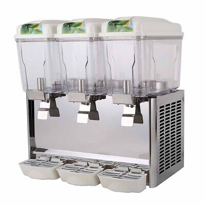 Triple Bowl Juice Dispenser for Commercial Catering and Restaurant Use