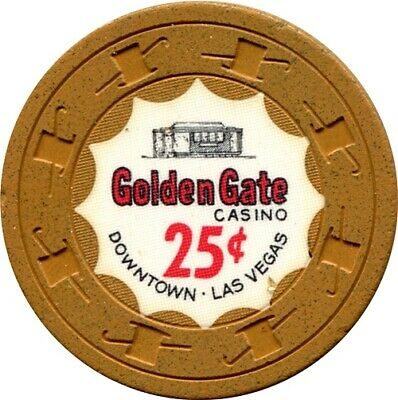 Golden Gate, Las Vegas $.25 Casino Chip  RARE