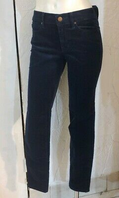 Womens GAP 1969 Navy Blue Legging Jean Corduroy Pants Sz 25 R