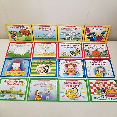 16 Scholastic Little Leveled Readers Books Level A B C D Yellow Red Blue Green