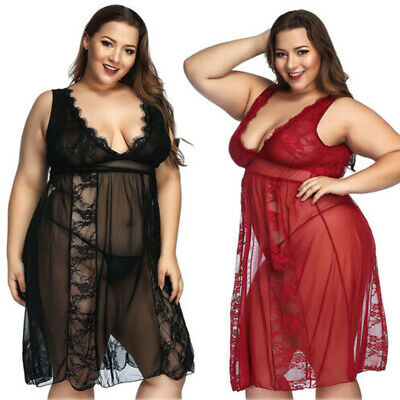 Plus Size Mesh Babydoll And G-String Coquette 1183X