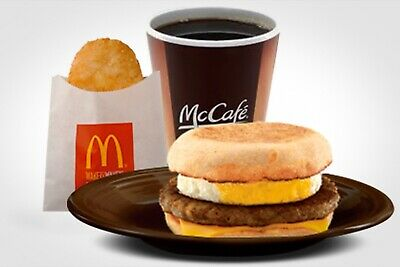 Mcdonalds Sausage &egg Mcmuffin Or Bacon  & Hot Drink For 1.99 Each