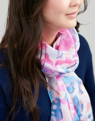 Joules Womens Wensley Printed Scarf - PINK FLORAL in One Size