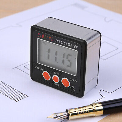 0-360° Level Box Protractor Digital Inclinometer Angle Finder Bevel Gauge Magnet