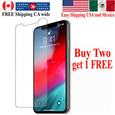 For Apple iPhone SE 11 Pro XR X XS Max 8 7 plus Tempered Glass Screen Protector