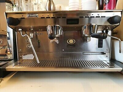 rancilio classe 8 coffee machine with coffee grinder