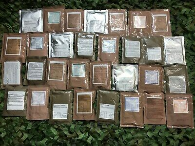 MREs 24 x ARMY RATION MAIN MEALS CAMPING FISHING HIKING EMERGENCY MOD READY MEAL